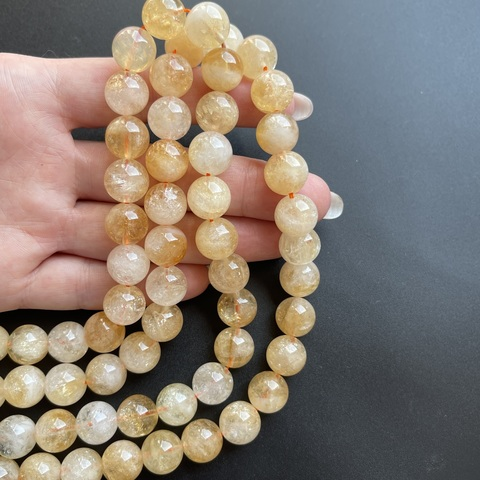 Бусины цитрин шар гладкий 11,7 мм 16 бусин