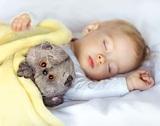 Кот Басик Baby с детским пледом