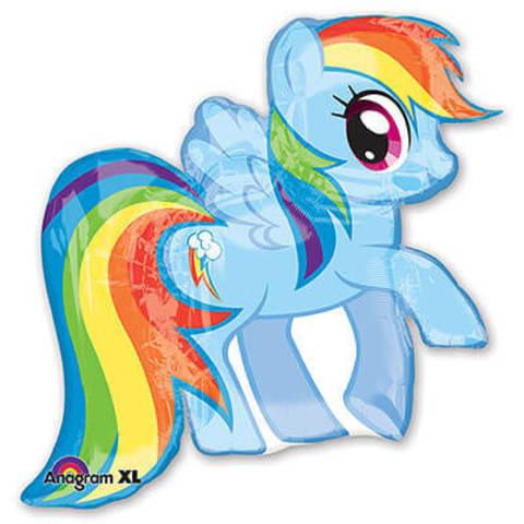 Фигура фольга Пони голубая