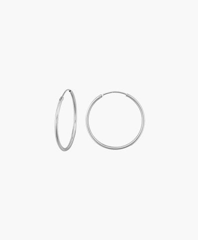 Серьги-кольца Hoops Endless silver 20 мм