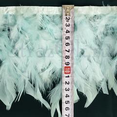 Купить оптом перья Индейки на ленте Azur светло-голубые