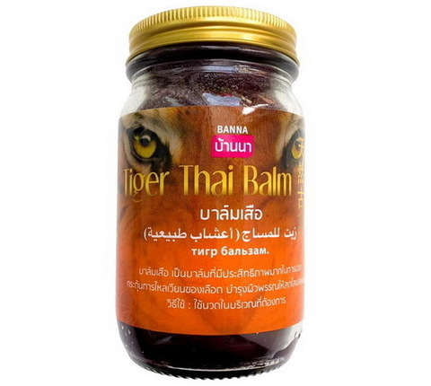 Тайский тигровый бальзам Tiger Thai Balm Banna, 200 гр