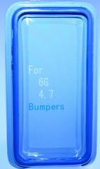 Бампер силиконовый для iPhone 6 СИНИЙ