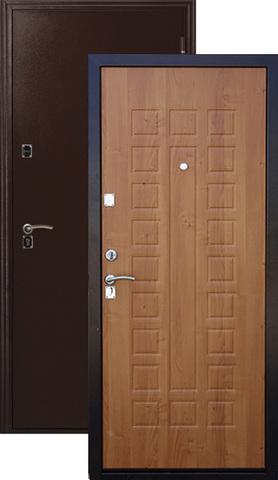 Дверь входная Меги ДС-181, 2 замка, 1,2 мм  металл, (медь+миланский орех)