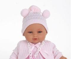 JUAN ANTONIO Munecas Кукла Нина в розовом, 30 см.,  озвученная (1372P)