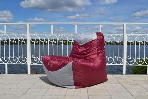 Кресло-мешок «Классическое» Бордово-серый