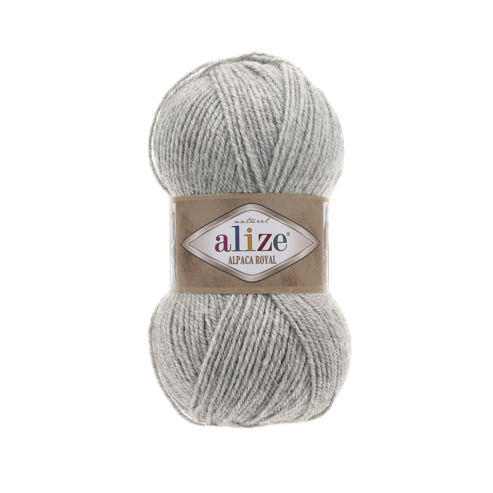 Пряжа Alize Alpaca Royal пепельный меланж 684