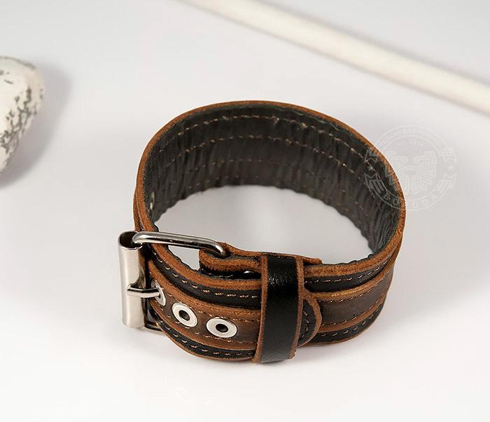 BL445-2 Оригинальный мужской браслет из натуральной кожи ручной работы фото 06
