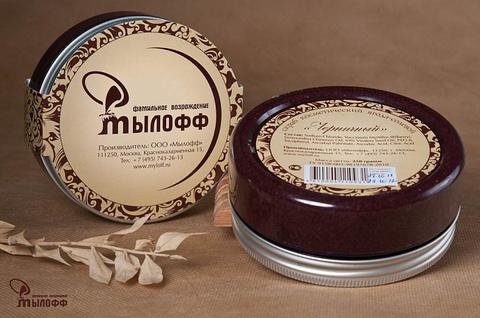Черничный солевой скраб для тела с маслами ши и кокоса и витамином Е 250 г ТМ Мылофф