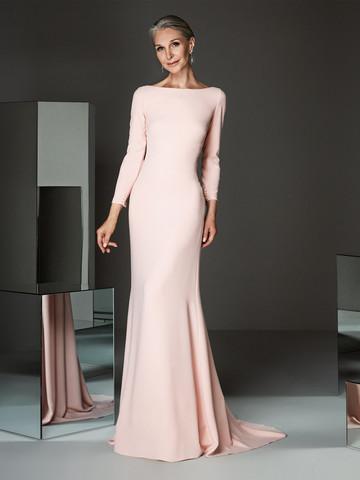 Вечернее платье классическое с рукавами с длинными рукавами