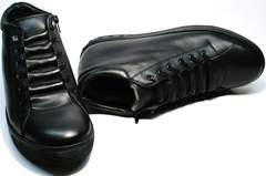 Ботинки зимние мужские натуральная кожа натуральный мех Ridge 6051 X-16Black