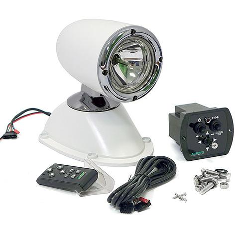 Прожектор стационарный ксеноновый, с проводным и беспроводным пультом ДУ, белый (серия 981)