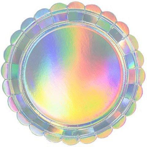 Тарелки малые блестящие Перламутр, 6 шт