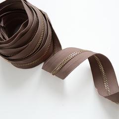 Молния металлическая №5, Молочный шоколад, цена за 10 см.