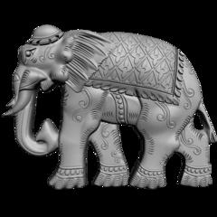 Силиконовый   молд  № 1552    Слон 2 D Левый   малый