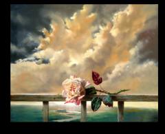 """Постер """"Живописный бутон розы"""""""