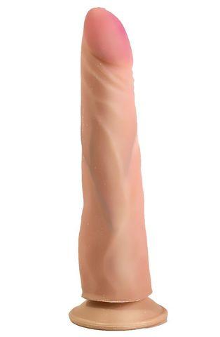 Фаллоимитатор-реалистик на подошве-присоске - 20 см.