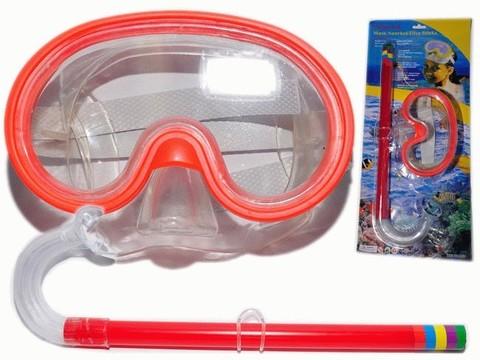 Набор для плавания, детский. В наборе: маска с иллюминатором, трубка. Упаковка - блистер. 2007-3