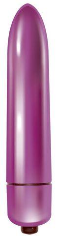 Розовая гладкая вибропуля Mae - 9 см.