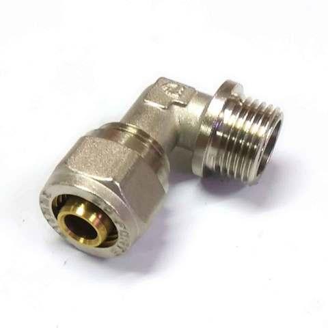 Угол для металлопластиковых труб  разборной 16*1/2 наружная резьба  SD Forte