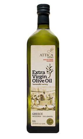 Оливковое масло первого холодного отжима Attica Food 1 л стекло