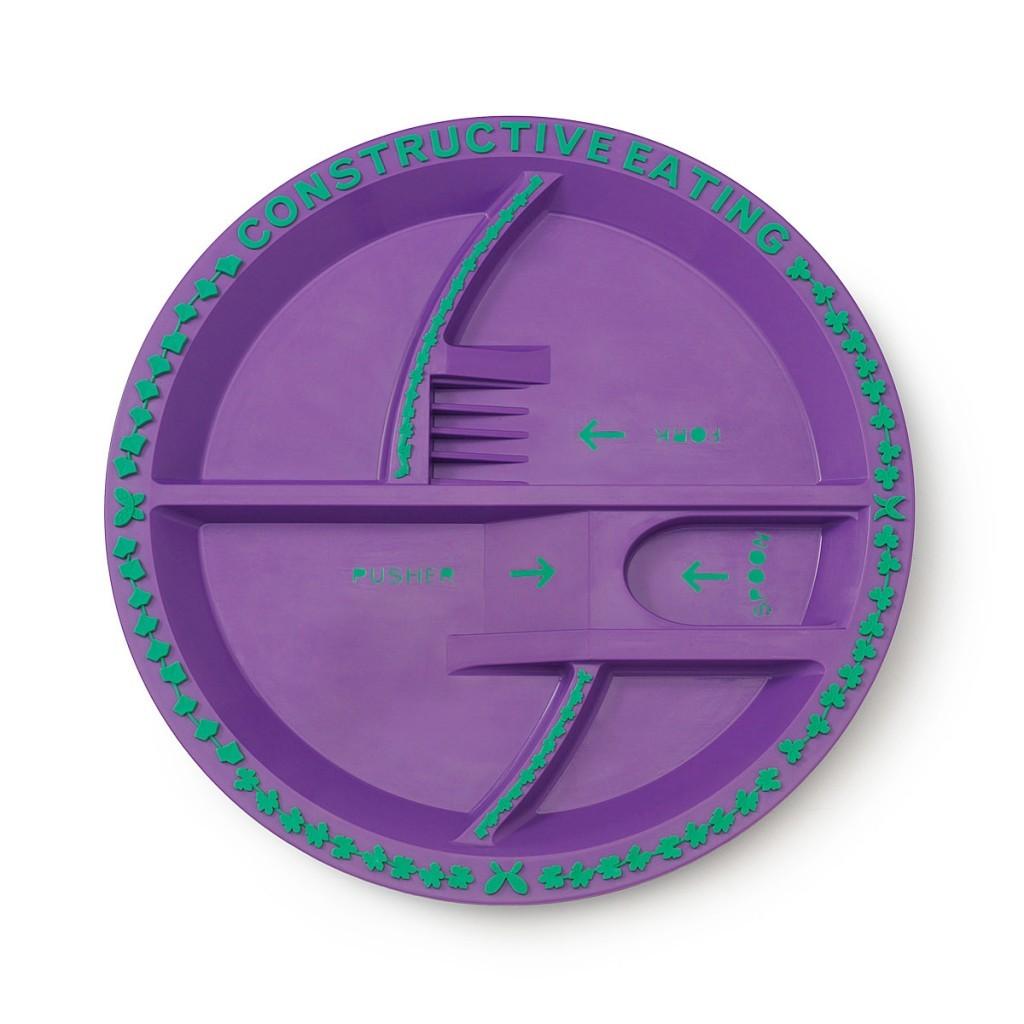 Тарелка Constructive Eating - Серия Волшебный сад (фиолетовый)