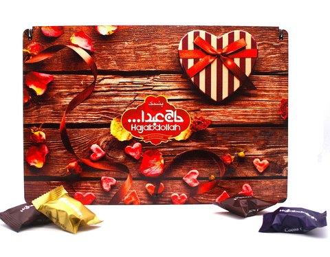 """Ассорти пишмание в подарочной деревянной упаковке """"Сердечки"""", Hajabdollah, 500 г"""