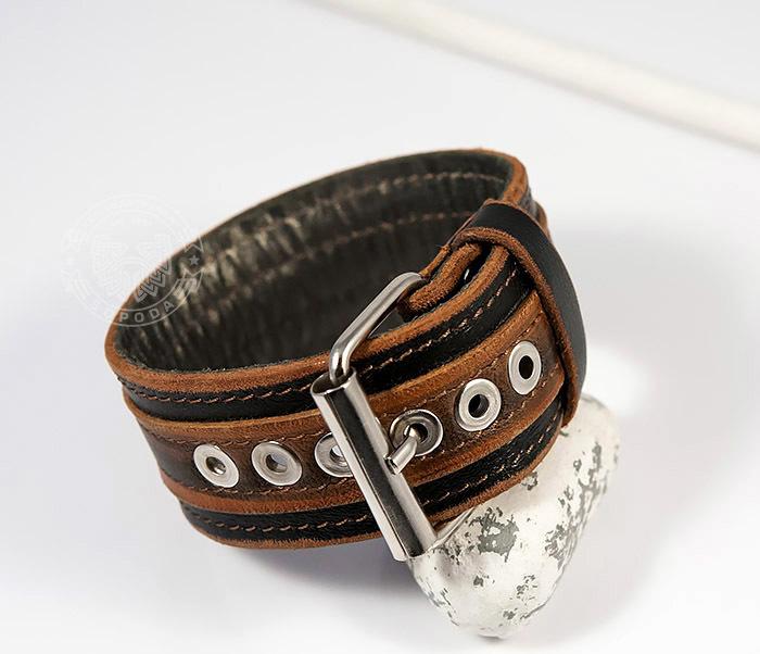 BL445-2 Оригинальный мужской браслет из натуральной кожи ручной работы фото 08
