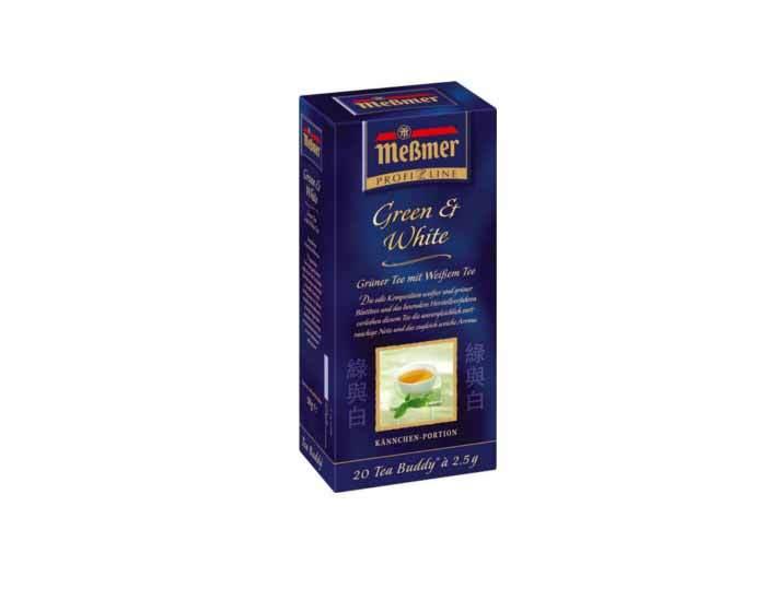 Чай травяной в пакетиках Messmer Зеленый и белый чай, 20 пак/уп, 2,5 г