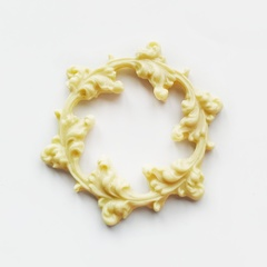 0579 Молд силиконовый Рамка круглая Венок