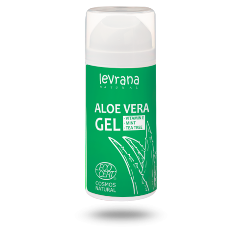Levrana Алоэ Вера гель,100мл.Супер увлажнение,снятие воспаления и тонизирование кожи