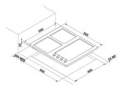 Варочная панель Korting HG 631 CTX - схема