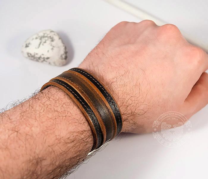 BL445-2 Оригинальный мужской браслет из натуральной кожи ручной работы фото 09