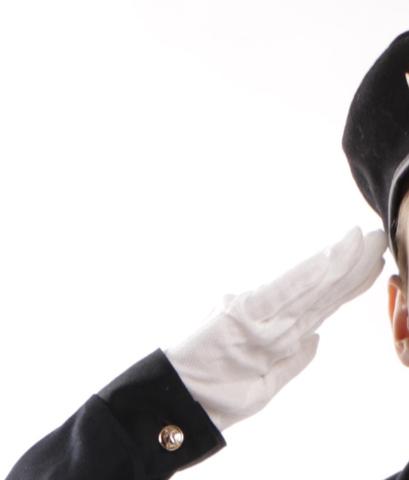 Белые детские военные парадные перчатки