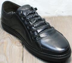 Туфли кроссовки без шнурков мужские весна осень Novelty 5235 Black.