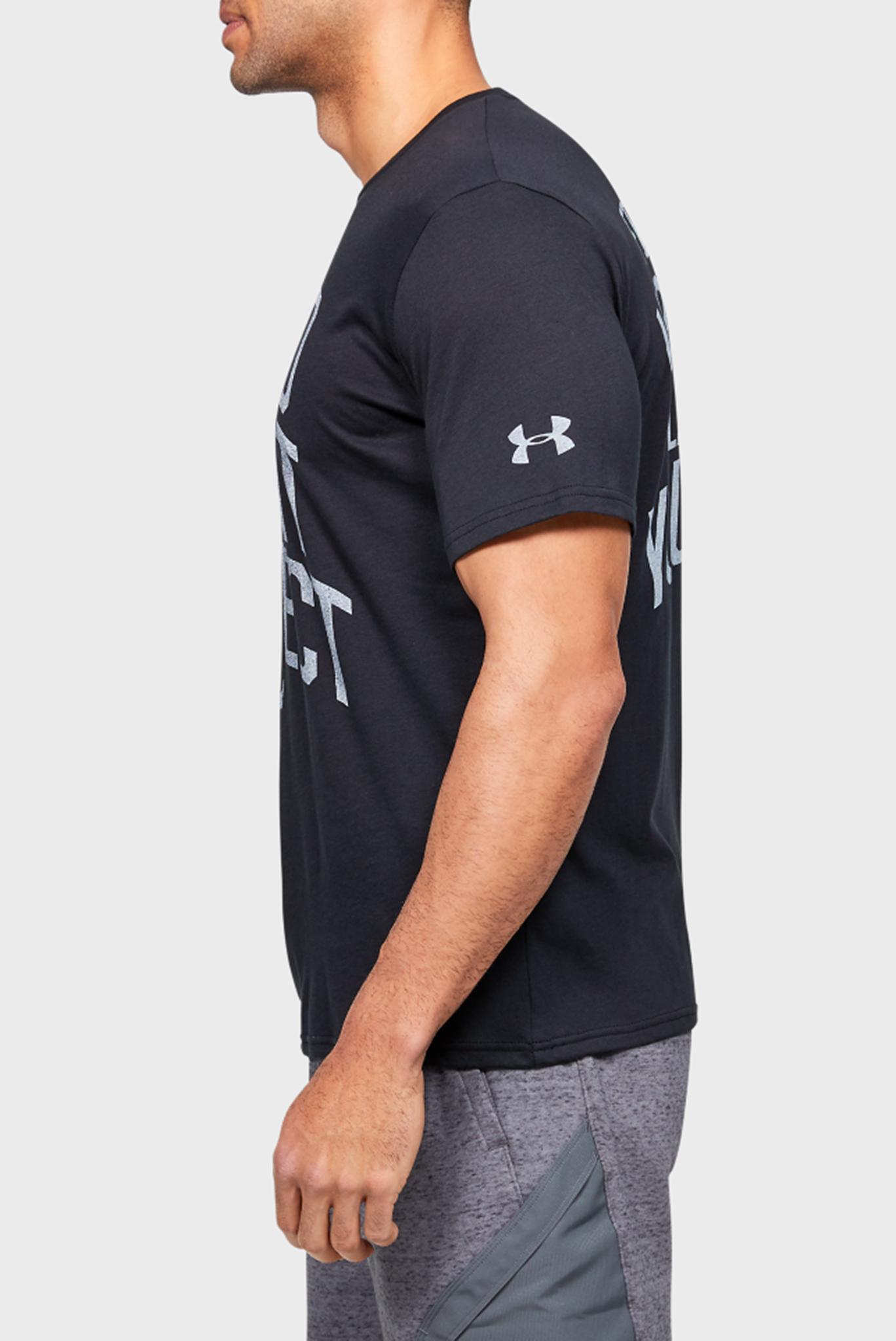 Мужская черная футболка с принтом Project Rock BSR SS Under Armour