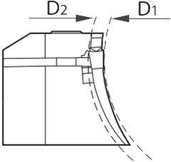 Резцедержатель вогнутый для торцевых канавок правый