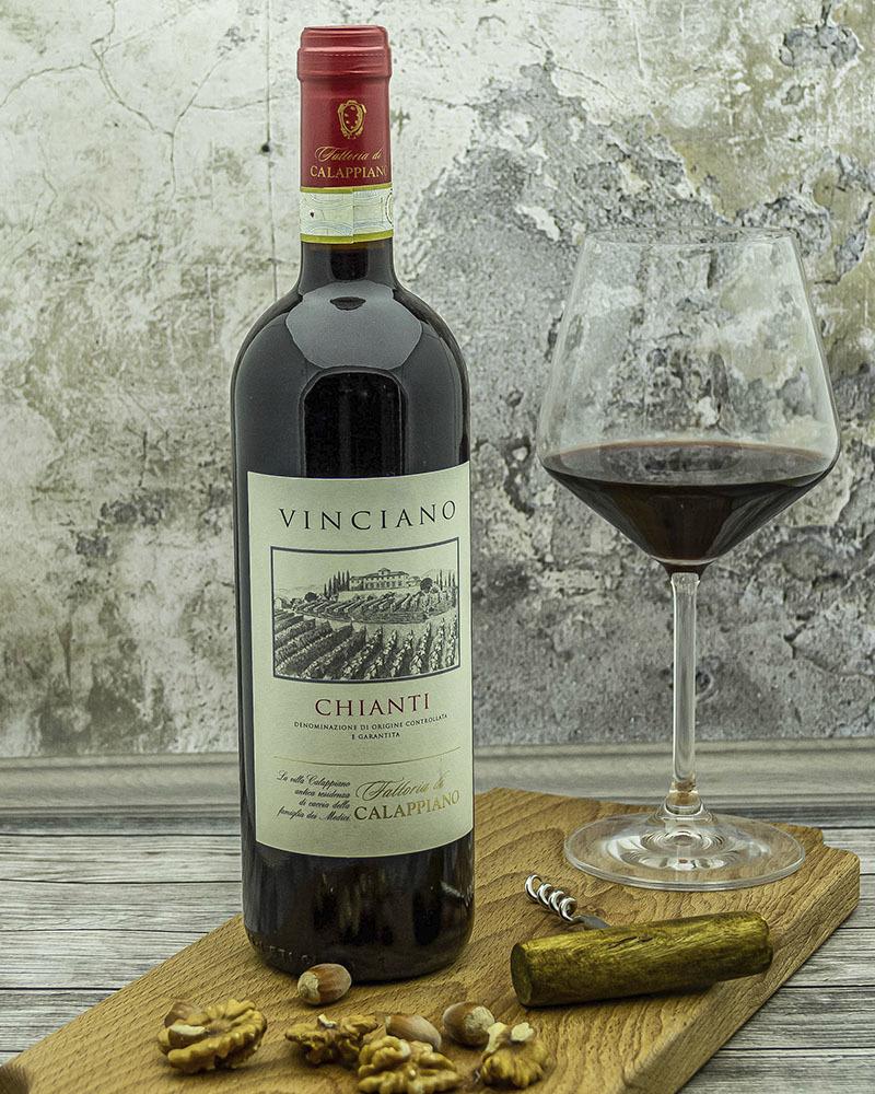 Вино Fattoria di Calappiano Кьянти Виничиано Красное Сухое 14,5% 0,75 л.