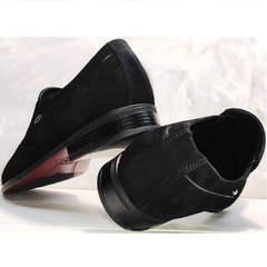 Классические туфли замшевые мужские Ikoc 3410-7 Black Suede.
