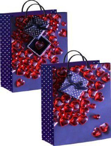 Подарочные пакеты 30х40+10 из мягкого пластика (Коробочка с сюрпризом)