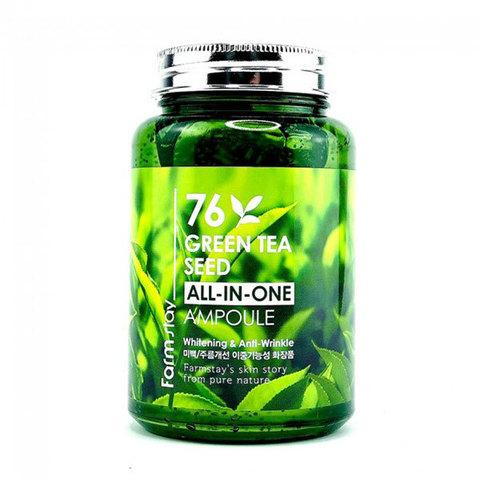 Farm Stay 76 Green Tea Seed All-in-One Ampoule Многофункциональная сыворотка с экстрактом семян зеленого чая 250мл
