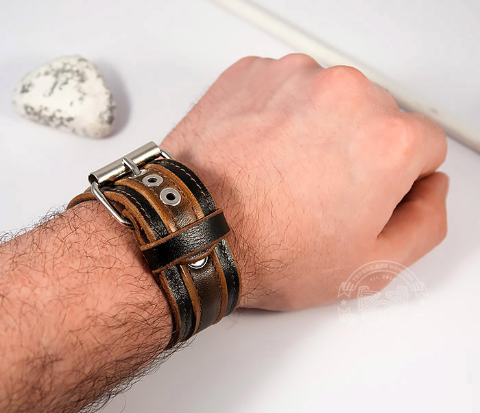 BL445-2 Оригинальный мужской браслет из натуральной кожи ручной работы фото 10