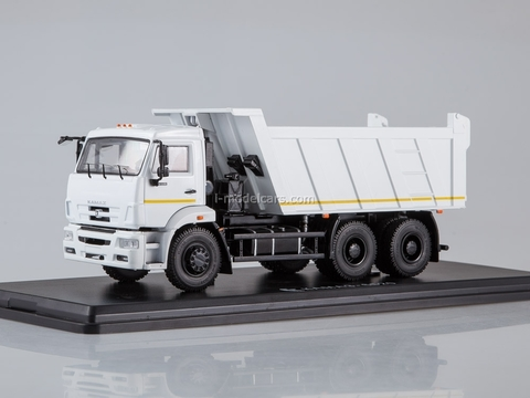KAMAZ-6520 tipper restyling white 1:43 Start Scale Models (SSM)