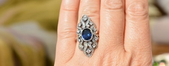 Шива (кольцо + серьги из серебра)