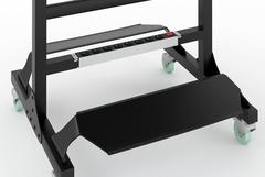 Зеркало MODUS с двумя фенодержателями, подножками и блоком розеток