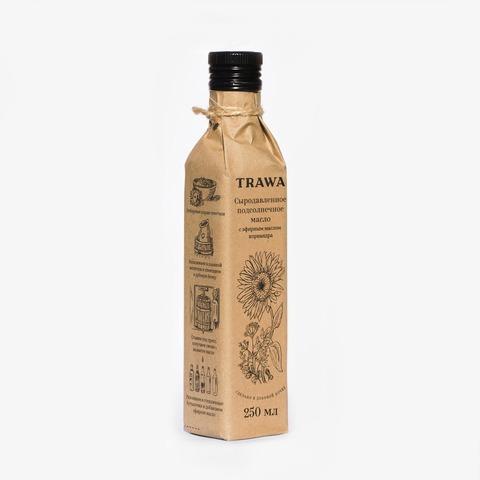 TRAWA, Масло подсолнечное сыродавленное с эфирным маслом кориандра, 250мл