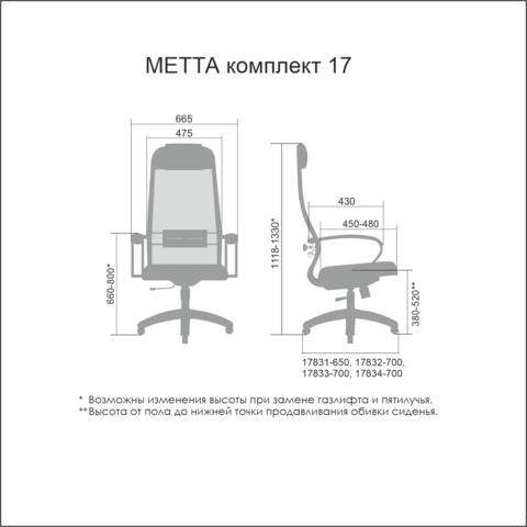 SU-1-BK/17 Кресло руководителя (Метта)