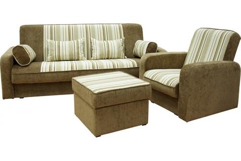 Угловой диван +  кресло+ пуф (комплект №5)