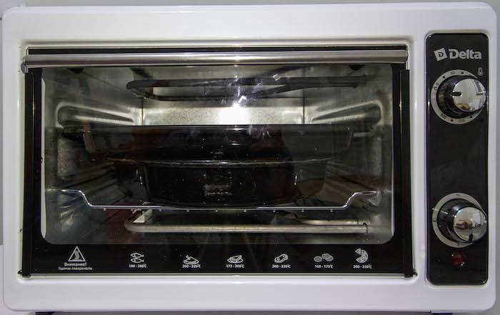 Эл. духовка DELTA с термостатом D-022 белая