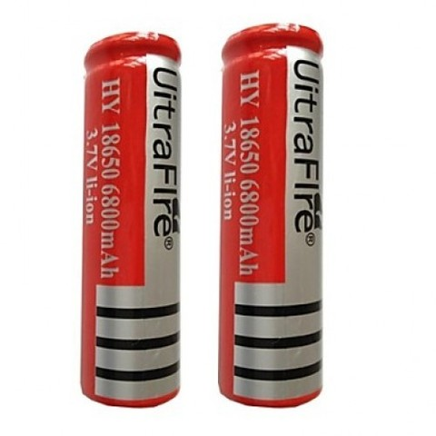 Аккумуляторы 18650 UltraFire 4200mAh (Li-ion) red